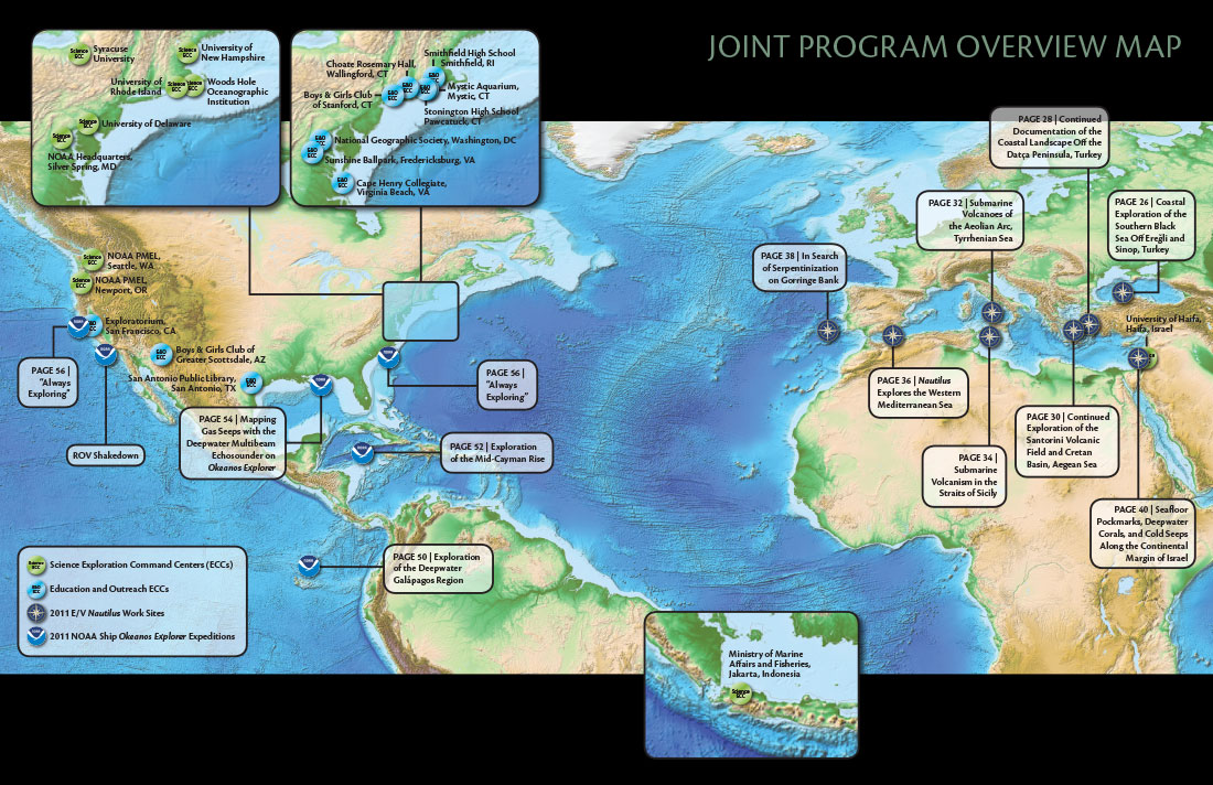 2011 Joint Program Location Map