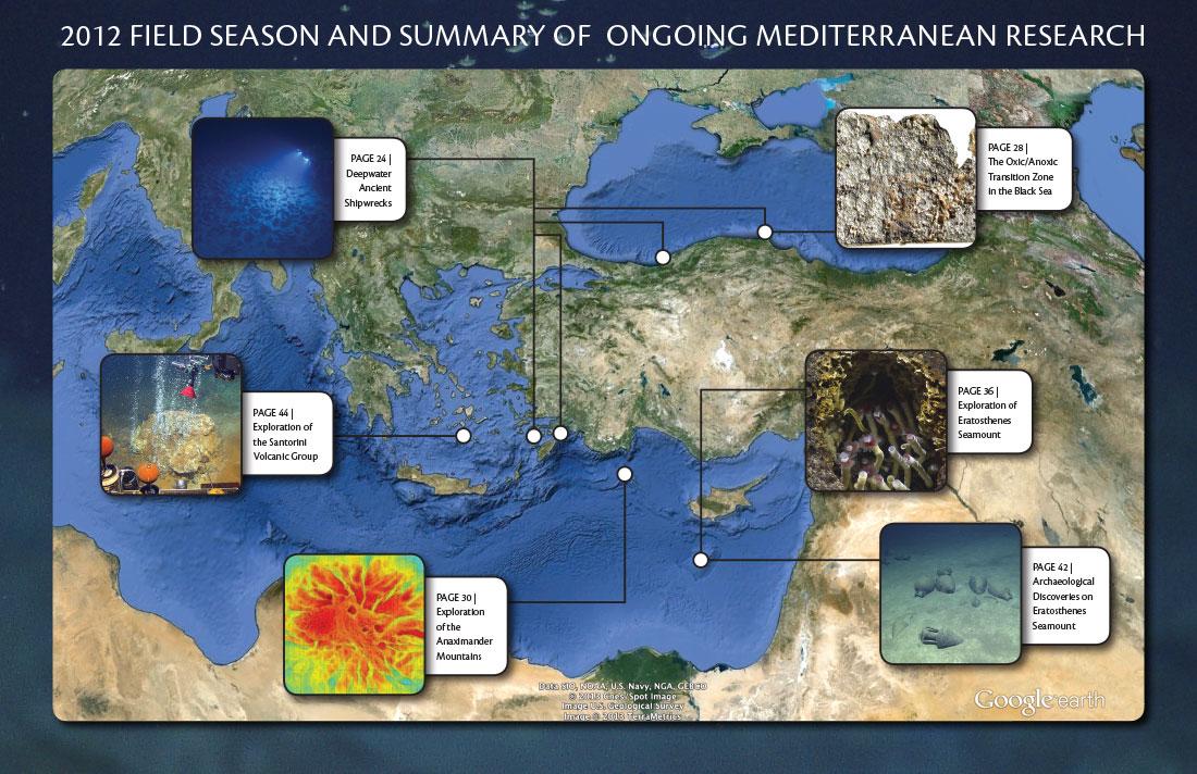 2012 Field Season Map