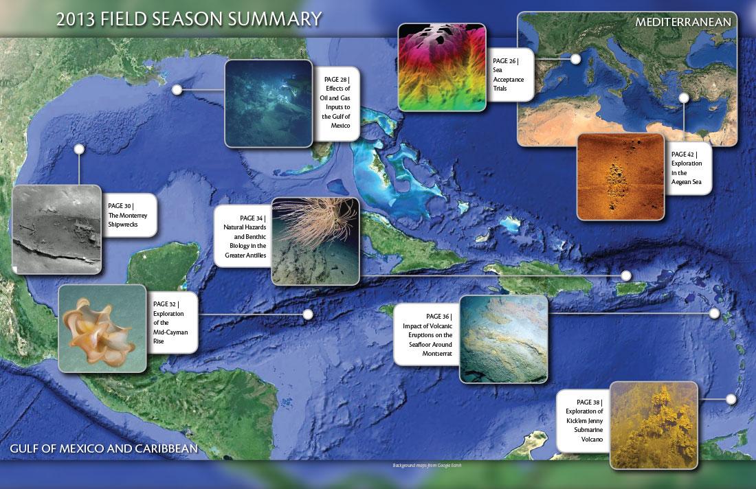 2013 Field Season Summary Map